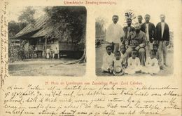 Indonesia, CELEBES SULAWESI, Home And Students Of Missionary Maan (1911) Mission - Indonesië