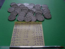 31 Pièces De 1 Frs - Monedas & Billetes