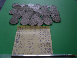 31 Pièces De 1 Frs - Kilowaar - Munten