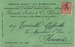 3914 LA DAMIGIANA FIASCHI BOTTIGLI E BOTTIGLIONI LIVORNO BIANCHI SALERI MILANO X FIRENZE - 1900-44 Vittorio Emanuele III
