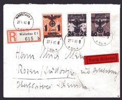 GG, R-Eilbote Fernbriefe  - Besetzungen 1938-45