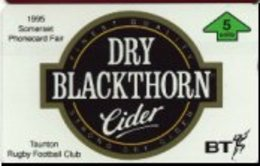 UK : BTG600 Dry Blackthorn  Beer Thematic MINT  (x)  Rugby Football Club - Regno Unito