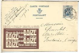 BELGICA ENTERO POSTAL PUBLIBEL 1934 FLEUR DE ROISIN TABACO TOBACCO - Tabaco