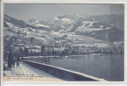MONTREUX EN HIVER,DENT DE JAMAN ET ROCHERS DE NAYS - ANIMEE - 15.12.13 - VD Vaud