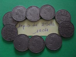 10 Pièces De 25 Cts - Münzen & Banknoten