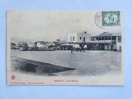 C. P. A. : DJIBOUTI : Place Ménélik, Animé, Timbre En 1906 - Gibuti