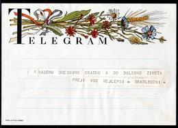 CZECHOSLOVAKIA 1950 TELEGRAM WEDDING BEST WISHES USED TÉLÉGRAMME TELEGRAMM TELEGRAMA TELEGRAMMA CZECH SLOVAKIA - Repubblica Ceca