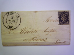 GP 2019 - 1940  LETTRE Du 1er Mai 1849  Au Départ D'ALZONNE à Destination De PEZENAS   XXX - 1849-1850 Cérès