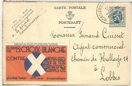 BELGICA ENTERO POSTAL PUBLIBEL 1934 LA CROIX BLANCHE MEDICINA FARMACIA PHARMACY - Farmacia