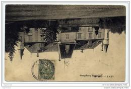 """Rare Cachet Perlé Facteur Boitier """"LENT AIN 2 MAI 1907""""  Indice=10 Blanc Cp LENT Adressée à Bourg En Bresse - Cachets Manuels"""
