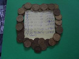 37 Pièces De 50 Cts Et Une Pièce ( Bon Pour50cts) - Monedas & Billetes
