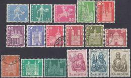HELVETIA - SUISSE - SVIZZERA - 1960/1963 - Lotto Di 18 Valori Usati - Usati