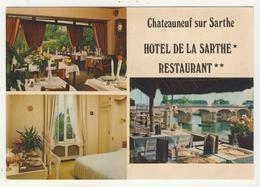 49 - Chateauneuf-sur-Sarthe - Hôtel De La Sarthe  -  Multivues - Chateauneuf Sur Sarthe