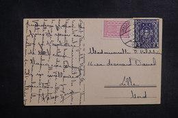 AUTRICHE - Affranchissement De Innsbruck Sur Carte Postale En 1923 Pour Lille - L 39585 - Briefe U. Dokumente