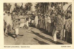 Indonesia, CELEBES SULAWESI MANADO, Tjakalele Alfur War Dance (1930s) Postcard - Indonesië