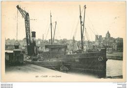 14 CAEN. Top Promotion Les Quais 1922 Grue Déchargeaut Un Bateau - Caen