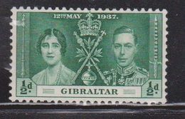 GIBRALTAR Scott # 104 MH - KGVI Coronation - Gibraltar
