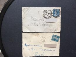 2 ENVELOPPES TIMBREES Paris  ANNÉES 1924 & 1921 - Francia