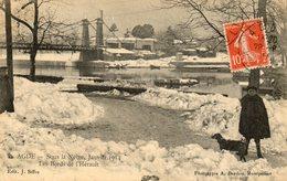 AGDE Sous La Neige Janvier 1914   Bords D L Herault - Agde