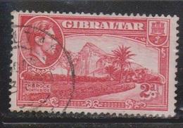 GIBRALTAR Scott # 110b Used - KGVI & View Of The Rock Northside - Gibraltar