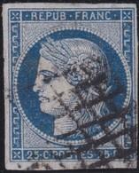 France  .   Yvert   .     4        .        O          .        Oblitéré - 1849-1850 Cérès