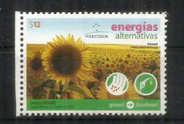 URUGUAY. Energies Alternatives.Transformation De Tournesol En Biodiesel. Un Timbre Neuf ** - Sciences