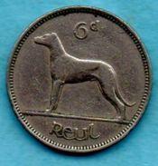 R13/  IRLANDE / IRELAND / EIRE  6 Pence  1963 KM#13a - Irlande