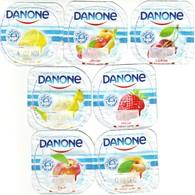 Algérie- Danone - Série Complète De 7 Opercules De Yaourt. - Milk Tops (Milk Lids)