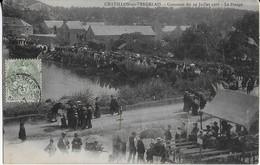 CHATILLON EN VENDELAIS (35) :Concours Du 22 Juillet 1906- Le Pesage Du Poisson ( Carte 1907) - France