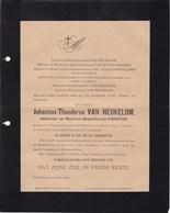 'S HERTOGENBOSCH HOLLANDE  Johannus VAN HEUKELOM Veuf VERHOFSTAD 1827-1895 Mort ANTWERPEN - Overlijden
