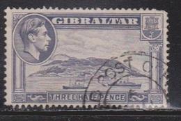 GIBRALTAR Scott # 109A Used - KGVI & Ships - Gibraltar