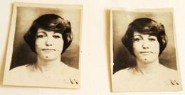 Vieille Photo, Old Photograph, Fotografía Antigua / Deux Photos D'une Fille, Two Photos Of A Girl - Personas Anónimos
