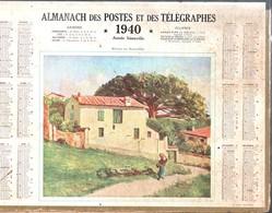 Calendrier Double Cartonnage 1940, Pyrénées Orientales, Maison Du Roussillon Intérieur Liste Communes France 95 Pages - Calendriers
