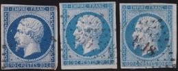 France  .   Yvert   .     14  3x      .        O          .        Oblitéré - 1853-1860 Napoleon III
