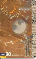 CARTE-PUCE-POLYNESIE-30U-PF100--GEMA-05/2000-ANNUAIRE 2000-UTILISE-TBE- - Polynésie Française