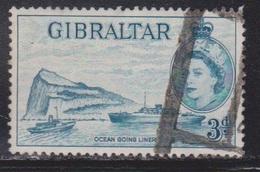 GIBRALTAR Scott # 137 Used - QEII & Ocean Going Liner - Gibraltar