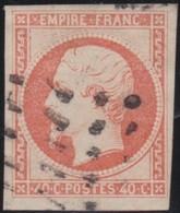 France  .   Yvert   .     16      .        O          .        Oblitéré - 1853-1860 Napoleon III