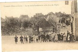 49 - COMBREE - La Rue De La Gendarmerie Et Place De L'Eglise   171 - Other Municipalities