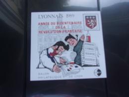 Bloc LYONNAIS Guignol Surchargé (cote 52,00**) - CNEP