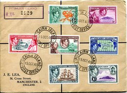 Pitcairn Islands 1940 KGVI Definitives Original Issue To 1/- FDC - Stamps