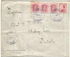 ALEVIA ASTURIAS CC A REINO UNIDO EN 1931 MAT COLOR VIOLETA RARO ORIGEN - 1889-1931 Reino: Alfonso XIII