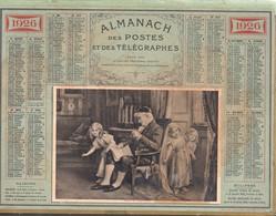 Calendrier Double Cartonnage 1926, Cache-cache,scène  Enfantine,édité Par Le Soutien Des PTT Des Veuves Et Orphelins - Calendriers