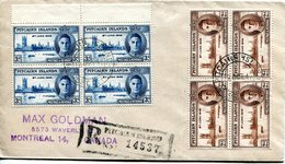 Pitcairn Islands 1940 KGVI Victory Blocks On Cover - Stamps