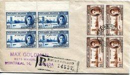Pitcairn Islands 1940 KGVI Victory Blocks On Cover - Pitcairn