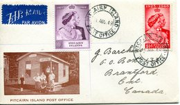 Pitcairn Islands 1949 KGVI Royal Wedding Set On FDC Cover - Stamps