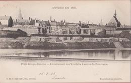 Spaanse Omwalling  Antwerpen Demolie Porte Rouge Afbraak Bastion Rode Poort Anvers En 1866 (In Zeer Goede Staat) - Antwerpen