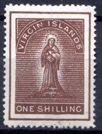ILES VIERGES - (Colonie Britannique) - 1888-89 - N° 19 - 1 S. Brun - (Sainte Ursule) - British Virgin Islands
