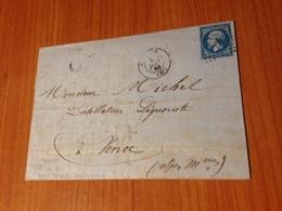 CANNES - PC DU GC 720-  Lettre écrite De MOUGINS 1864    (port à Ma Charge ) - Marcophilie (Lettres)