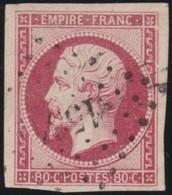 France  .   Yvert   .     17      .        O          .        Oblitéré - 1853-1860 Napoléon III