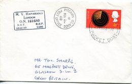 Pitcairn Islands 1968 M.V. Haparangi Packet Boat Cover - Stamps